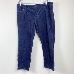 Gap sexy boyfriend jeans 34 navy corduroy